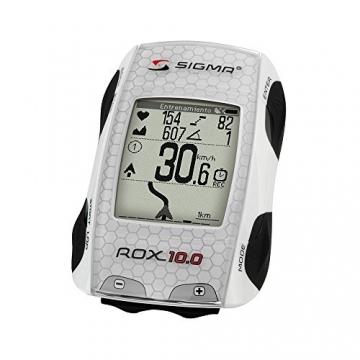 Sigma Sport Fahrradcomputer ROX 10.0 GPS SET, White -